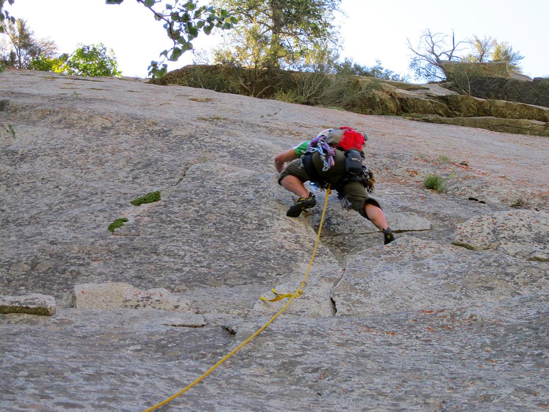 Climbing Pentapitch
